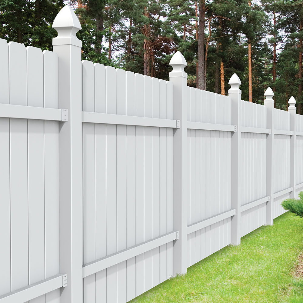 Amarillo vinyl fence